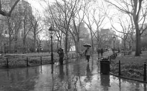 A December day in Washington Park, Manhattan